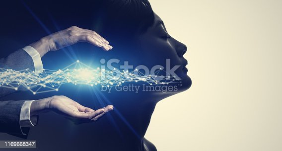 istock AI (Artificial Intelligence) concept. Communication network. 1169668347
