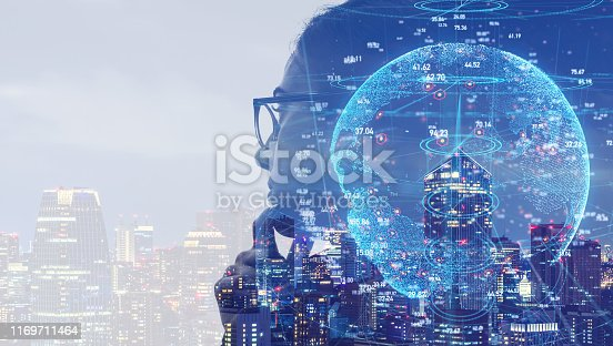 istock AI (Artificial Intelligence) concept. Communication network. 1169711464