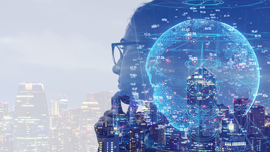 1054574034 istock photo AI (Artificial Intelligence) concept. Communication network. 1169711464