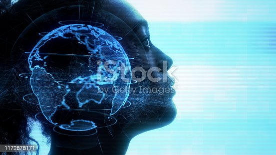 872670540 istock photo AI (Artificial Intelligence) concept. Communication network. 1172878171