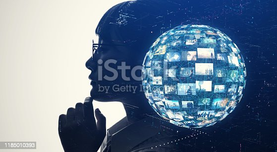 672310452istockphoto AI (Artificial Intelligence) concept. Communication network. 1185010393