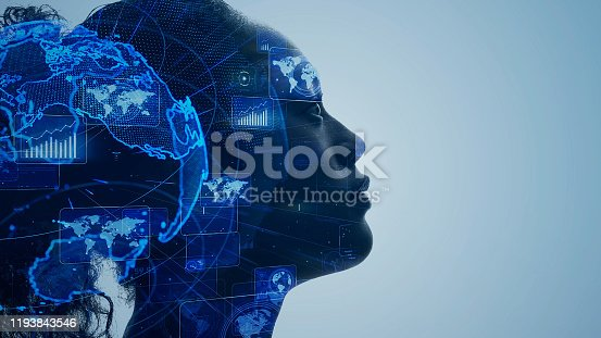 1140691167 istock photo AI (Artificial Intelligence) concept. Communication network. 1193843546