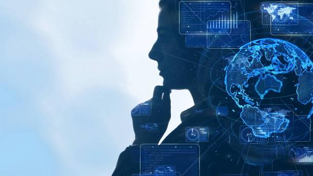 KI-Konzept (Artificial Intelligence). Kommunikationsnetz. – Foto