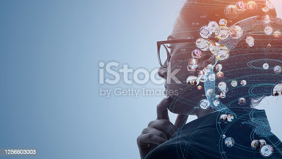 904420364 istock photo AI (Artificial Intelligence) concept. Communication network. 1256603003