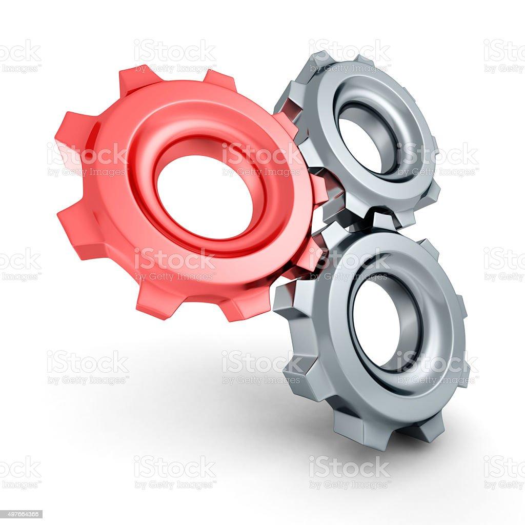 Symbol Konzept mit Getriebe Cogwheel – Foto