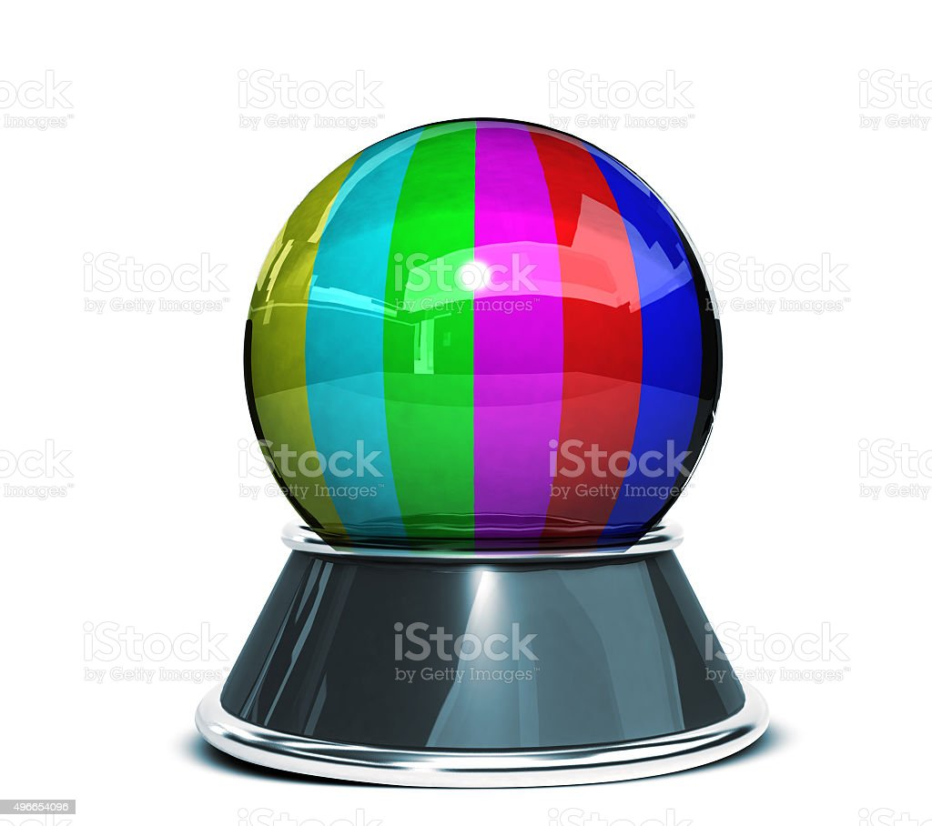 Concept Crystal Bal Error On Television Screen Color Bars