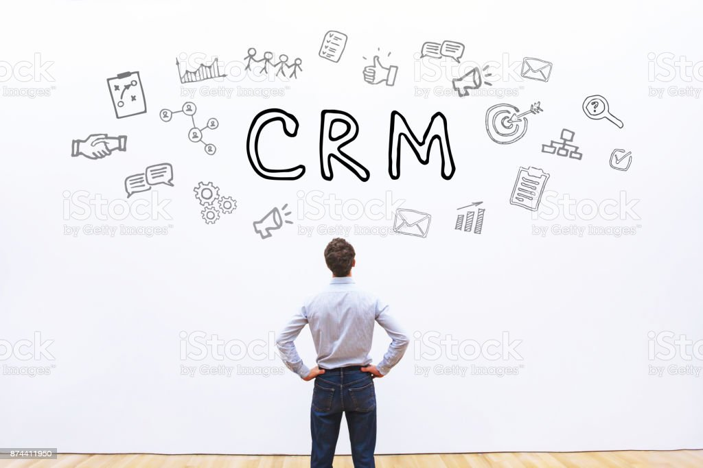 CRM concept, Customer Relationship Management stock photo