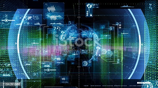 istock GUI (Graphical User Interface) concept. Cyberspace. 1154261588