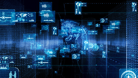 istock GUI (Graphical User Interface) concept. Cyberspace. 1154261846