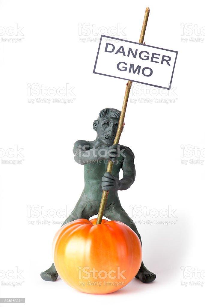 GMO concept danger figure of a man photo libre de droits