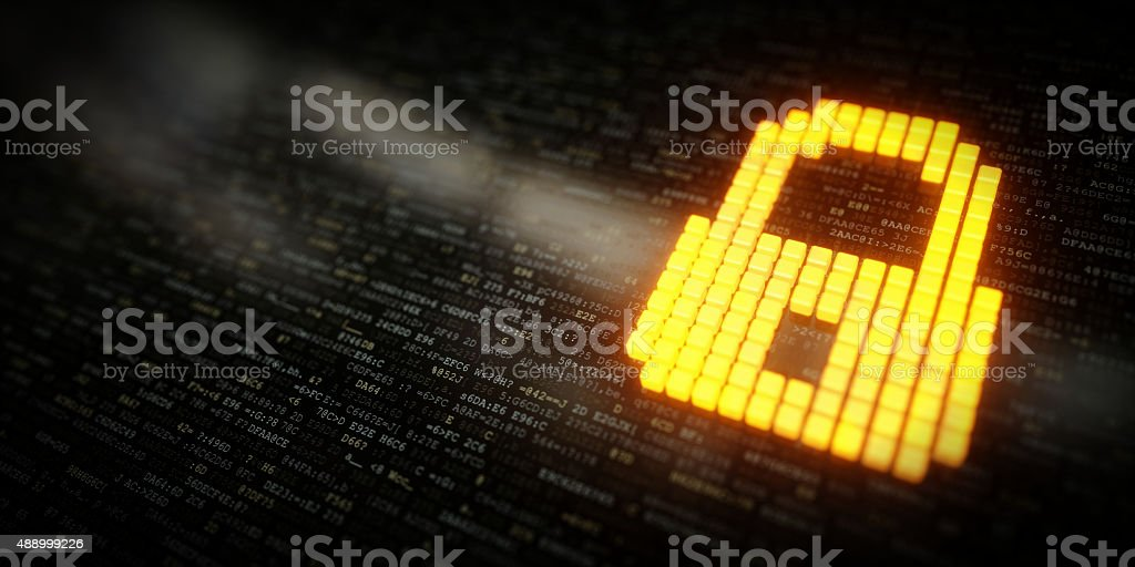 IT Concept Data Encrypted A03 stock photo