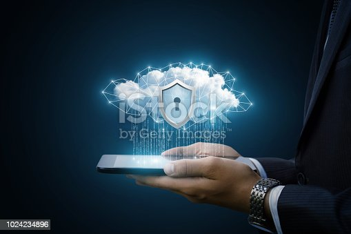 istock Concept Data protection in tablet . 1024234896
