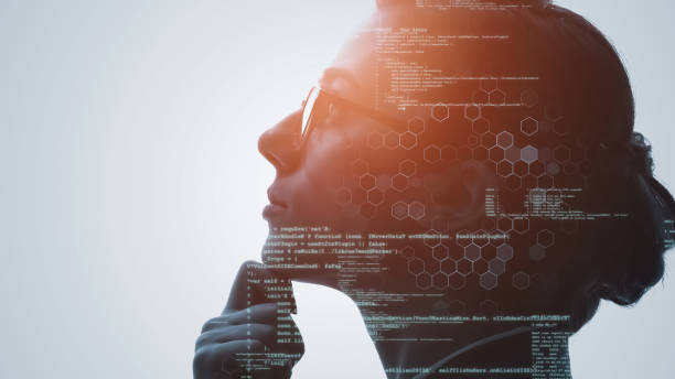 AI (Artificial Intelligence) concept. Deep learning. Digital transformation. stock photo