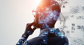 istock AI (Artificial Intelligence) concept. Deep learning. GUI (Graphical User Interface). 1223789411