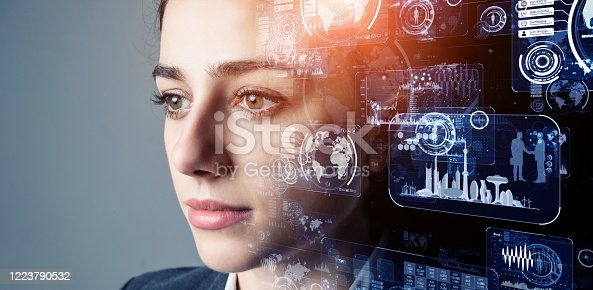 851956150 istock photo AI (Artificial Intelligence) concept. Deep learning. GUI (Graphical User Interface). 1223790532