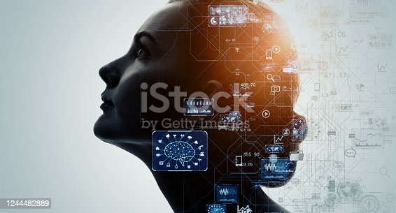 990107166 istock photo AI (Artificial Intelligence) concept. Deep learning. GUI (Graphical User Interface). 1244482889
