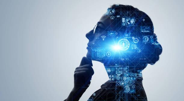 ki-konzept (artificial intelligence). deep learning. gui (grafische benutzeroberfläche). - achtsamkeit persönlichkeitseigenschaft stock-fotos und bilder