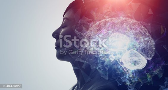 990107166 istock photo AI (Artificial Intelligence) concept. Deep learning. Mindfulness. Psychology. 1249307327