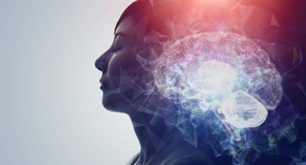 concepto de ia (inteligencia artificial). aprendizaje profundo. atención. psicología. - brain fotografías e imágenes de stock