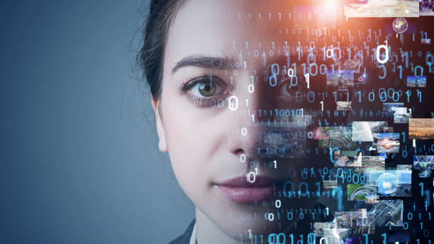 AI (Artificial Intelligence) concept. Deep learning. Visual contents. stock photo