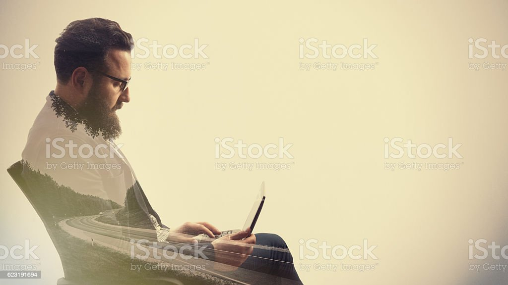 Concept, depicting business trip stock photo