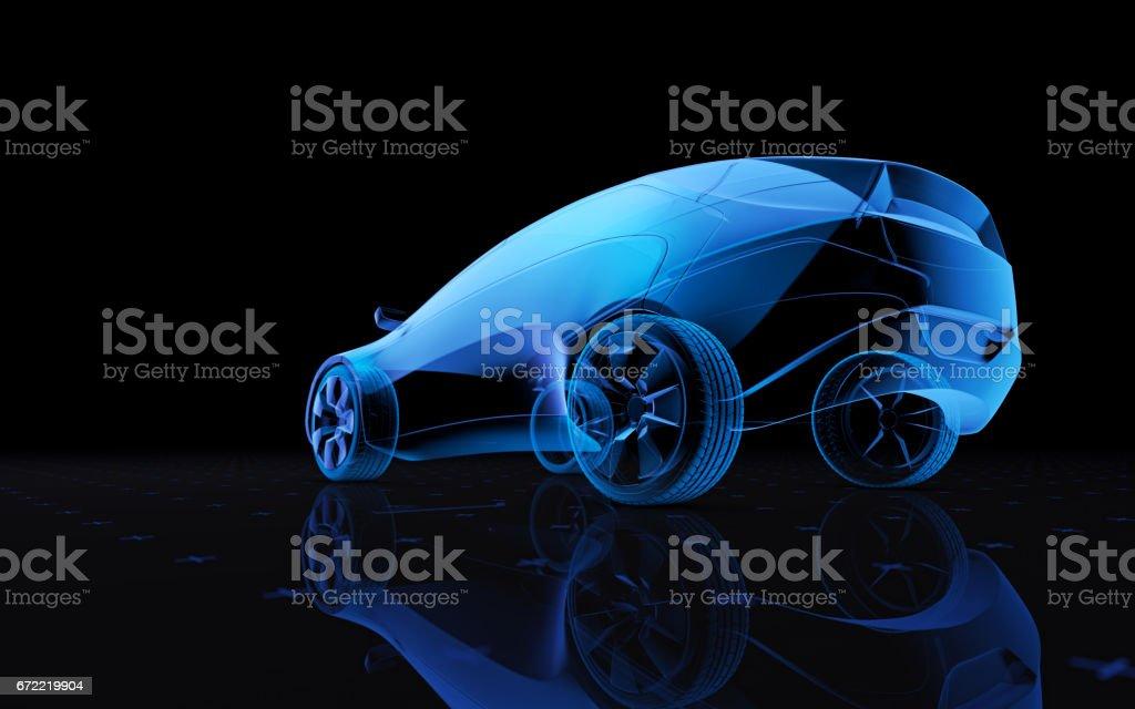 Konzept-Design-Auto – Foto