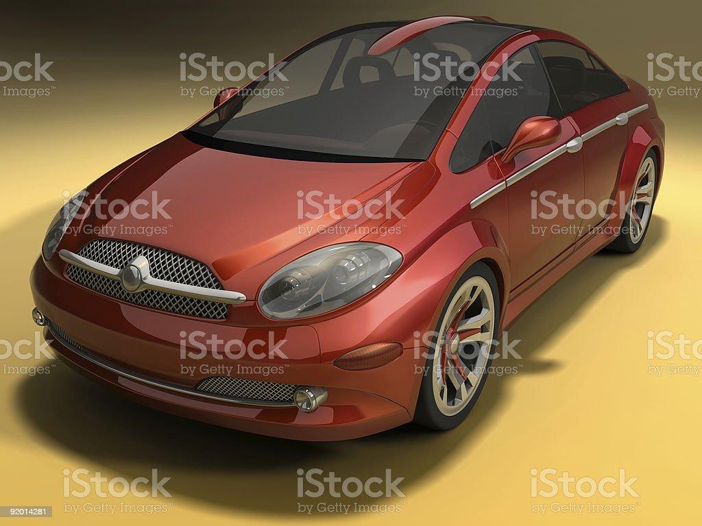 Concept design of a sportive sedan car royalty-free stock photo