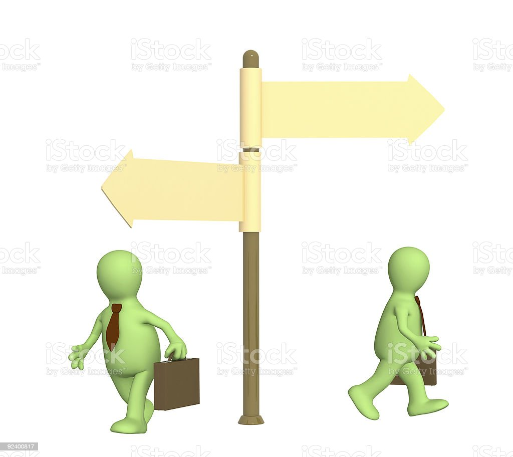 Concept - different direction in business stock photo