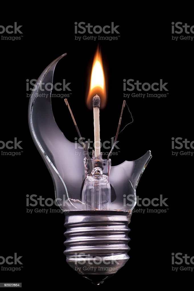 Concept : Disaster -  substitional solution royalty-free stock photo