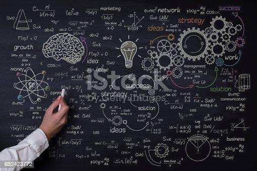 istock Concept drawing on blackboard 682423772