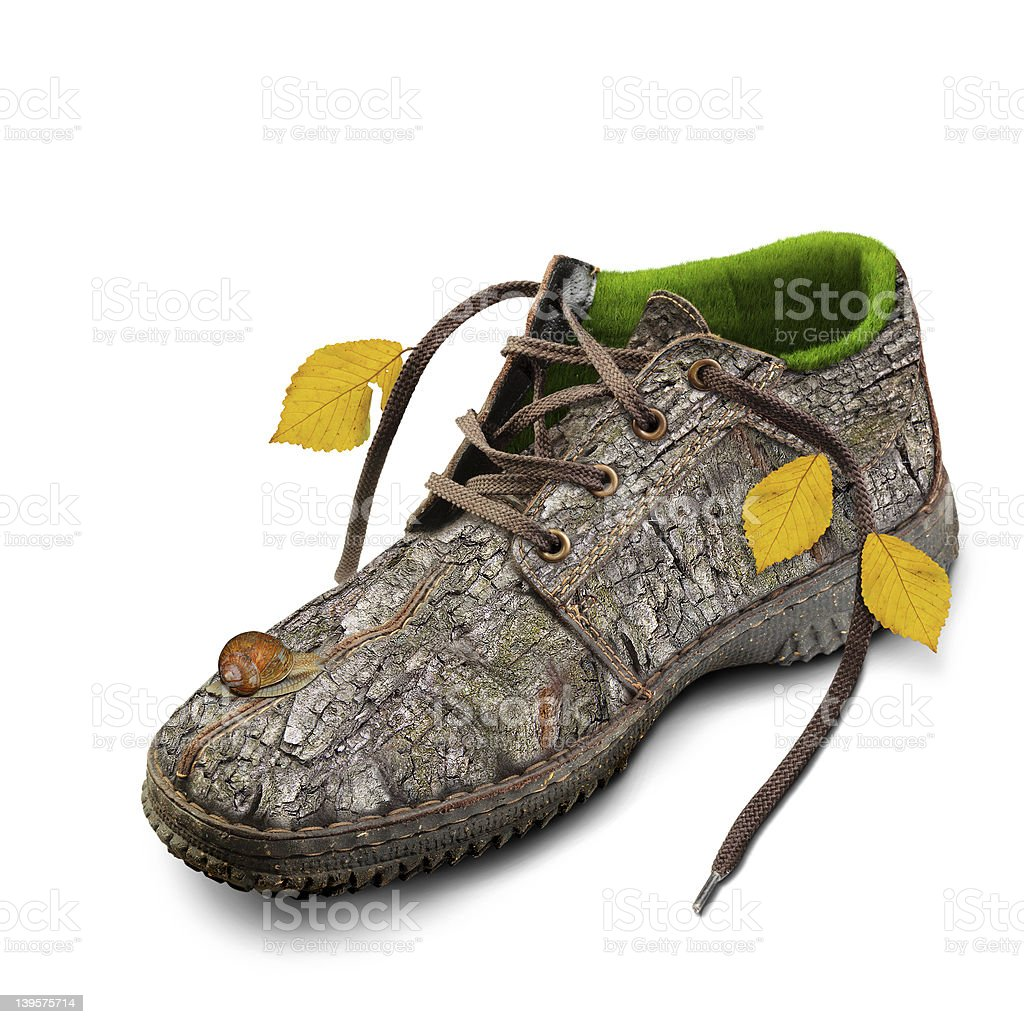 Concept. Eco-friendly shoes. royalty-free stock photo