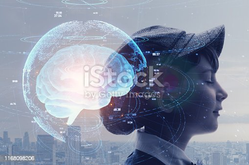 istock AI (Artificial Intelligence) concept. Education concept. 1168098206