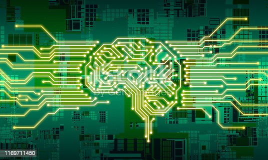 1140691204istockphoto AI (Artificial Intelligence) concept. Electronic circuit. Communication network. 1169711450