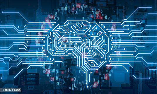 832169838istockphoto AI (Artificial Intelligence) concept. Electronic circuit. Communication network. 1169711454