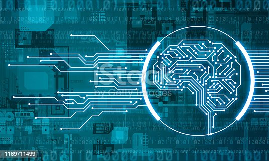 1140691204istockphoto AI (Artificial Intelligence) concept. Electronic circuit. Communication network. 1169711499