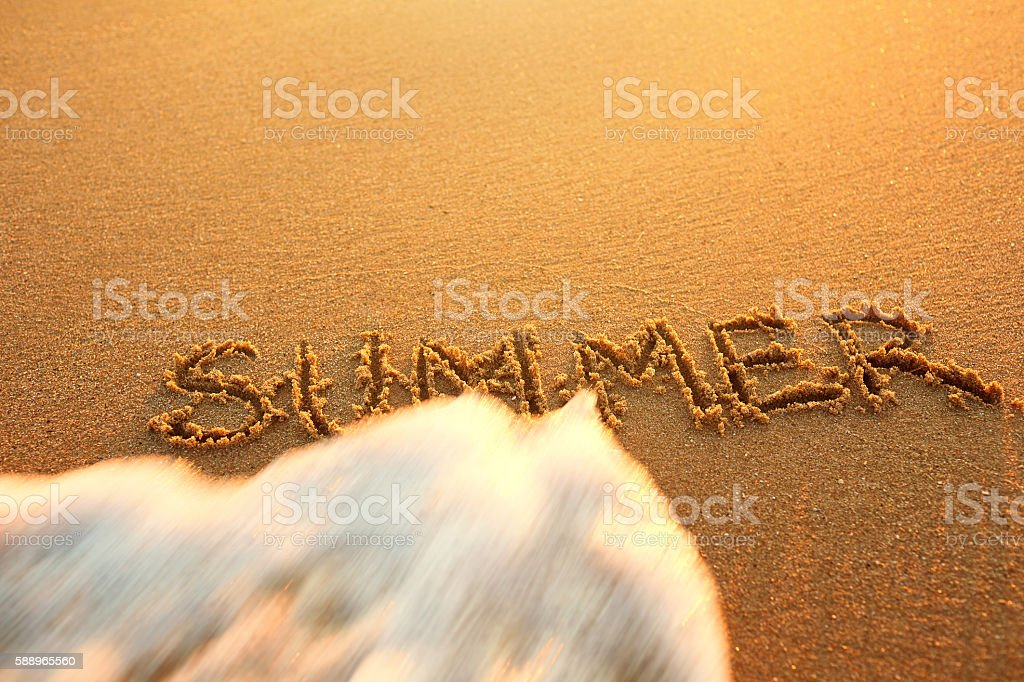 Concept  end of summer. recreation stock photo