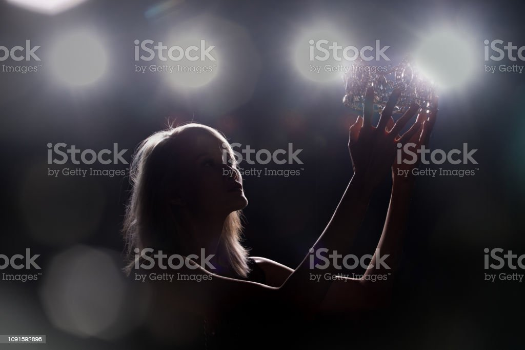 Concept every Girl Dream to Miss beauty Universe stock photo