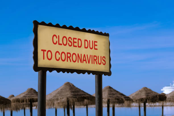 Concept for coronavirus pandemic and toruism crisis. stock photo