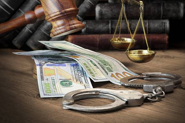 Concept For Corruption, Bankruptcy Court, Bail, Crime, Bribing, stock photo