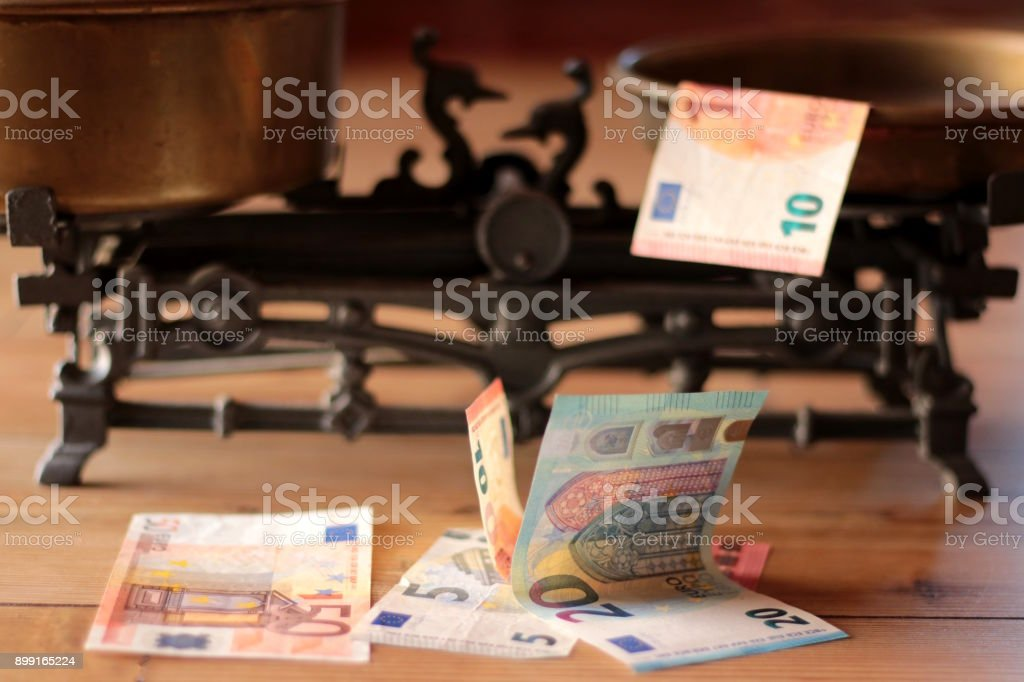Concept For Corruption, Bankruptcy Court, Bail, Crime stock photo