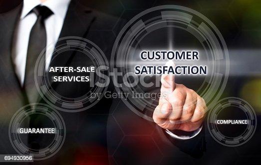 700303384 istock photo Concept For Customer Satisfaction On Virtual Screen 694930956