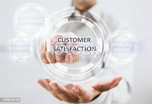 700303384 istock photo Concept For Customer Satisfaction On Virtual Screen 700319118