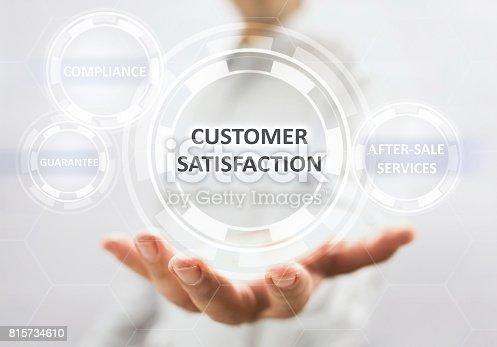 700303384 istock photo Concept For Customer Satisfaction On Virtual Screen 815734610