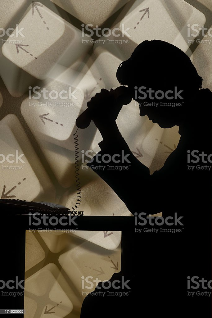Concept for decission, doubt, crisis stock photo