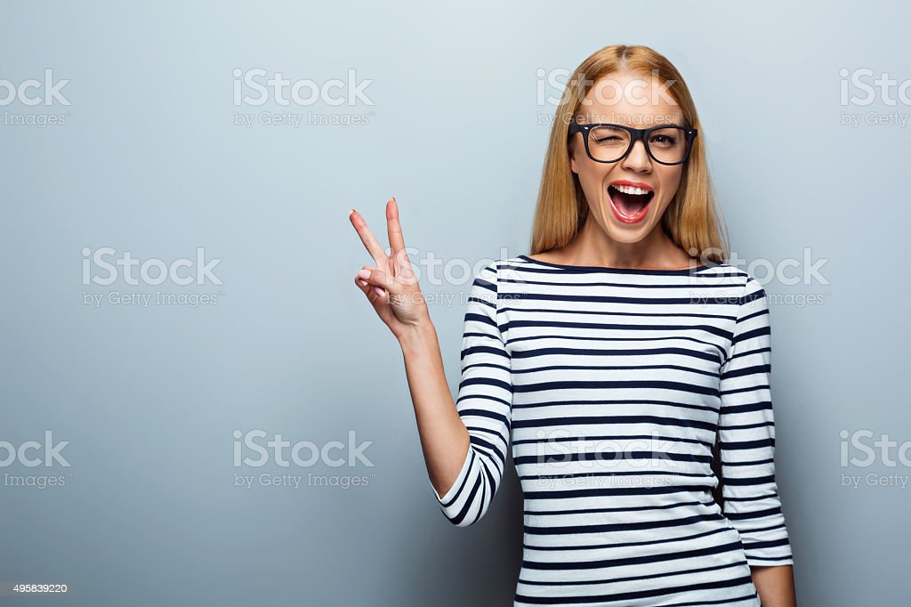 Concept for emotional young woman stock photo