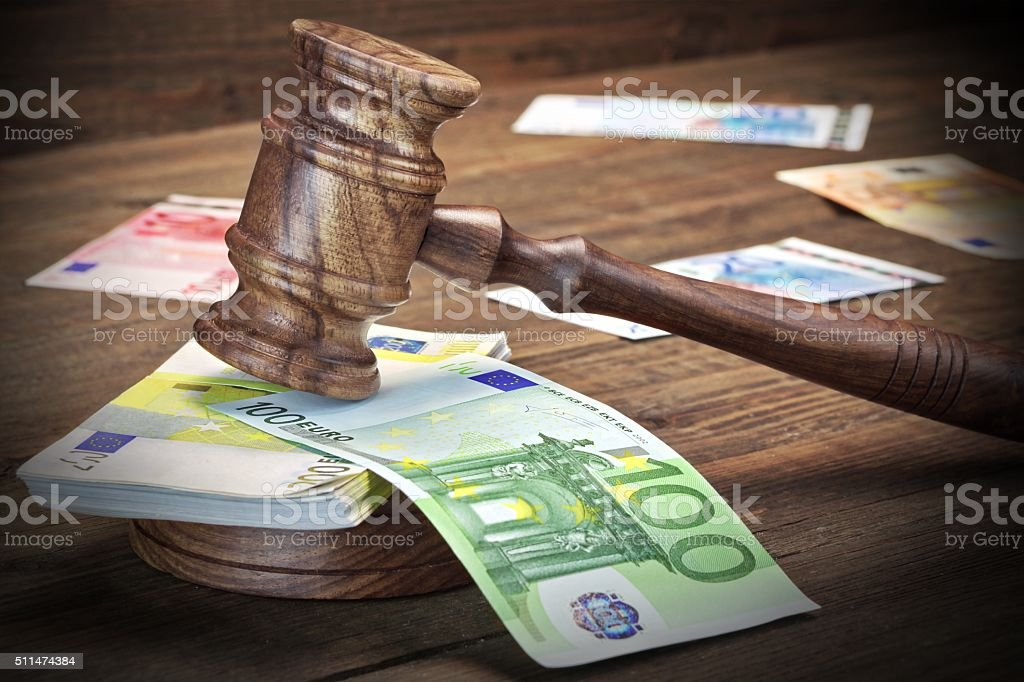 Concept For Law, Corruption, Bankruptcy, Bail, Crime, Fraud, Auc stock photo