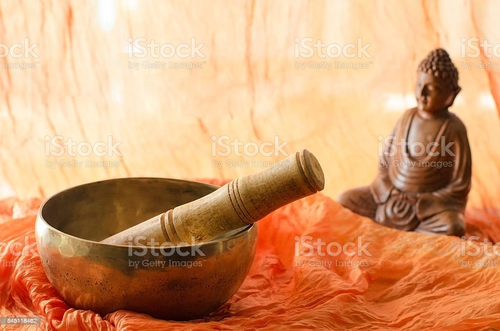 Concept for meditation or mindfulness stock photo
