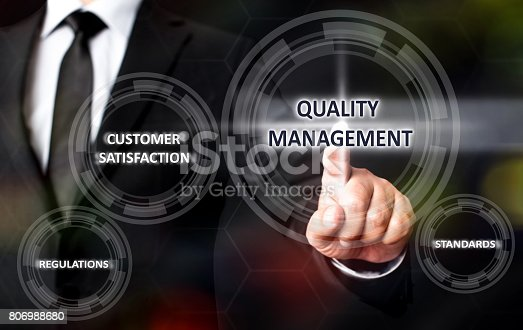700303384 istock photo Concept For Quality Management On Virtual Screen 806988680