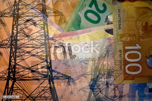 istock Concept for spend on electricity 484587248