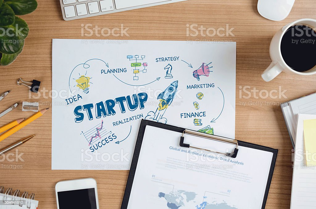 Concept for StartUp stock photo